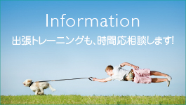 Information 出張トレーニングも、時間応相談!